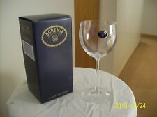 Bohemia Long Stemmed Crystal Vintage Calice Vino White Wine Glass/Goblet NIB