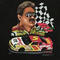Vtg 1997 Terry Labonte T Shirt Sz Large Chase NWT NOS Black NASCAR Kelloggs