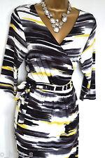 3/4 Sleeve Midi Striped Petite Women's Dresses