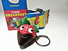 Kidrobot Yummy Breakfast Keychain - CHOCOLATE COVERED STRAWBERRY