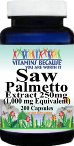 SAW PALMETTO EXTRACT PROSTATE URINARY TRACT SUPPORT 200 Capsule 1000mg
