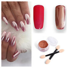 Rose Gold Nail Powder | Magic Mirror Chrome Pigment | Nail Art Supply