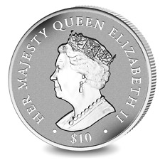 2017 British Virgin Islands Queens Sapphire Jubilee Proof Silver Coin Incused
