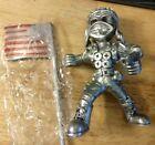 American Warrior Sculpture Piston Man - Raise The Flag