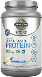 Sport Organic Plant-Based Protein by Garden of Life, 38 servings Vanilla