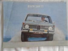 BMW 2000 TI FOLLETO c1960's