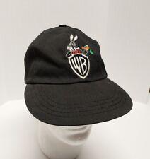 Vtg Warner Brothers Bugs Bunny Black 1991 Hat Cap ACME Clothing