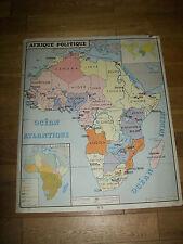 ANCIEN CARTE SCOLAIRE ROSSIGNOL 7 EUROPE POLITIQUE/AFRIQUE POLITIQUE