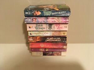 Woodiwiss, Savage, St. James, Richards - Lot of 8 romance books