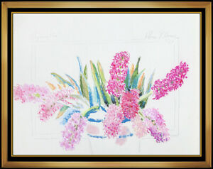 Hobson Pittman Original Pastel Painting Authentic Hand Signed Floral Still Life