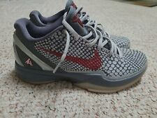 Nike Zoom Kobe 6 VI Gray Burgundy Lower Merion Aces 429659-017 Mens Size 9.5 🔥