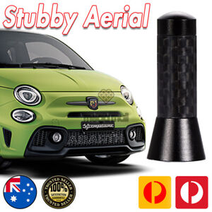 Antenna / Aerial Stubby Bee Sting for Abarth 595 695 500 124 Black Carbon 3.5 CM