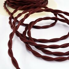 Burnt Copper Cloth Covered Twisted Electrical Wire - Lamp Cord - Antique Fan