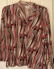 Nikki Black/Red/White Top Size XL   $32