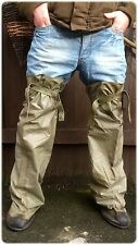*** RUBBER OVERSHOES THIGH WADERS WATERPROOFS ONE SIZE army surplus fishing ***
