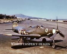 USAAF WW2 P-39 Fighter Saga Boy II 8x10 Color Nose Art Photo 357th FG WWII