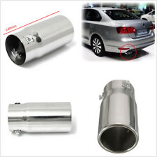 Car Vehicle Chrome Flat Exhaust Pipe Tip Muffler Steel Stainless Trim Tail Tube