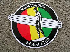 large moon doggies surfboards surfing surfer surfboard sticker longboard club