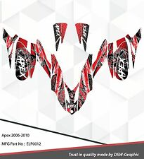 *NEW* SLED GRAPHIC KIT GRAPHICS WRAP FOR YAMAHA APEX 2006-2010 ELP0012