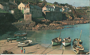 Postcard of Boats at Coverack Village, The Lizard, Helston, Cornwall