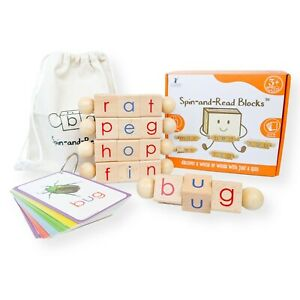 Little Bud Kids Spin-and-Read Phonetic Reading Blocks - New Readers - OPENED BOX