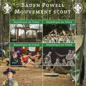 Chad Scouting Stamps 2021 MNH Girl Boy Scouts Baden-Powell 4v M/S