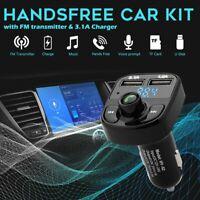 Car Bluetooth FM Transmitter Dual USB Port MP3 Player Radio Adapters Handsfree