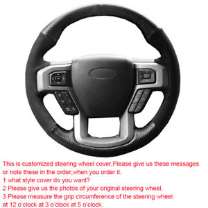 Customized Car Steering Wheel Cover For Ford F-150 2015 - 2018 2019 2020 2021
