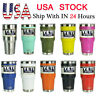 Yeti Rambler Stainless Steel Cup Insulated 30oz Tumbler with Lid Multi-colors US