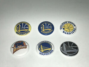 """1"""" LOT OF 6 GOLDEN STATE WARRIORS THE TOWN BADGE BUTTON PINS PINBACK [P116]"""