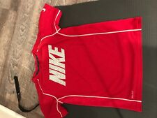 Nike Dri-Fit Red T-Shirt with White/Gray Letters in Boys Size M
