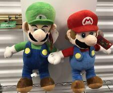 "2016 Nintendo SUPER MARIO Plush Doll Toy 18"" MARIO & 18"" LUIGI , excellent w tag"