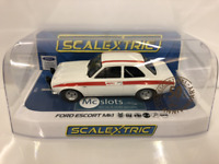 Scalextric C3934 Ford Escort MK1 Mexico Diamond White 50th Anniversary