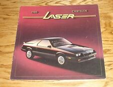 Original 1985 Chrysler Laser Deluxe Sales Brochure 85