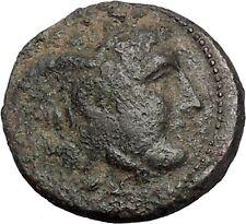 Seleukos I, Nikator  312BC Ancient Rare Greek Coin Medusa Protection Bull i47601