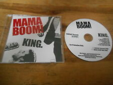CD POP mamma BOOM! - King (6) canzone PROMO pinpoint Rec SC
