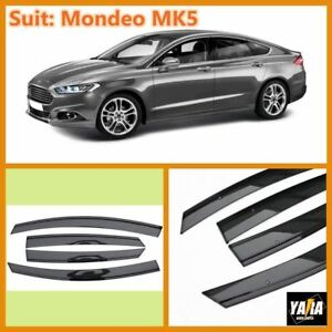 INJ Weather shields Weathershields Window Visors for Ford Mondeo MK5 14-18 Tinte