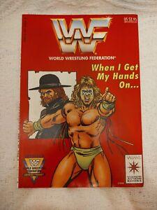 WWF Ultimate Warrior Wait Til I Get My Hands On... Illustrated Action Book