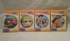 NIB lot of 4 Fisher Price IXL learning system games:Cars,Spongebob,Dora,Toystory