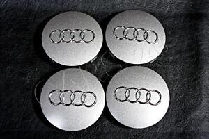 "Genuine 18"" Alloy Wheel Center Hub Caps 4pcs Audi A4 B8 A5 2008-2013"