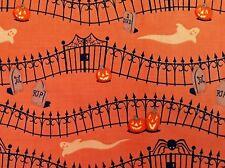 ORANGE Haunted Hill clothwork Cimitero Fantasma zucca di Halloween in tessuto Confine 1 M