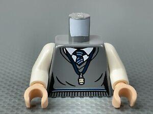 LEGO Minifigure Female Torso Sweater Vest White Shirt Ravenclaw Tie Cork 75966