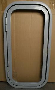 Klappenrahmen, Serviceklappe, grau, ca. 600 x 300 mm für Wohnmobil, Caravan