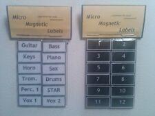Magnetic Instrument & Vocal Labels for Sound Consoles, Monitor Desks, etc.