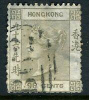 China 1865 Hong Kong 96¢ Gray QV Wmk CCC SG #19 VFU J667 ⭐⭐⭐⭐⭐⭐
