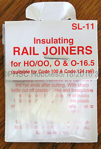 HO Scale - PECO SL-11 Insulating Rail Joiners for Code 100 & Code 124 Rail