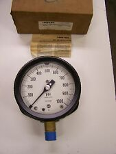 "Solfrunt Ametek Usg Surface Mount Pressure Gauge 0-1000 Psi 4-1/2"" 1/2"" Npt New"
