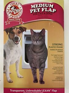 Ideal Pet Products Pet Door Plastic Medium Size Flap White Strong Unbreakable