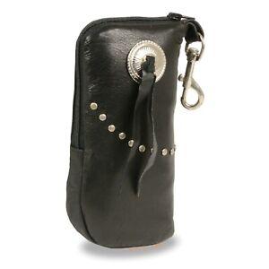 Milwaukee Performance Leather Zippered Eye Glass Case & Belt Clasp **SH508