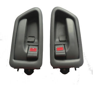 Fit 97-01 Toyota Camry Inner Inside Front Rear Left Right Side Door Handle Gray